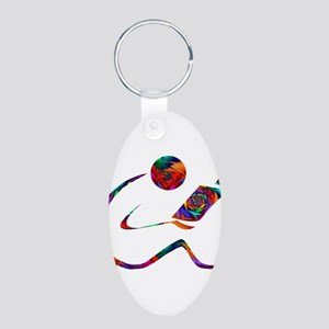 The Reader Aluminum Oval Keychain