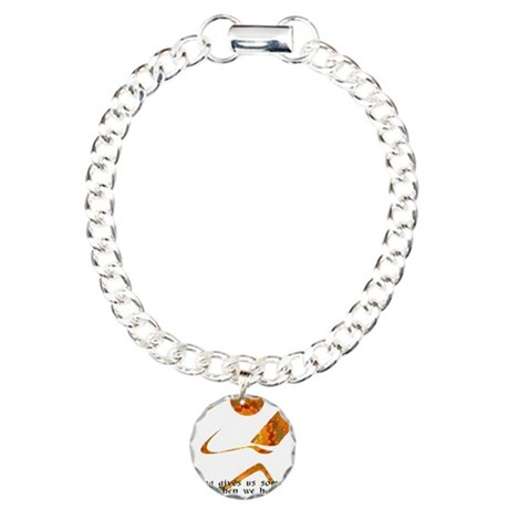 Reader - Golden Quote Charm Bracelet, One Charm