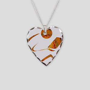 Reader - Golden - Sans Quote Necklace Heart Charm