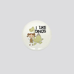 Girl I Like Dinos Mini Button