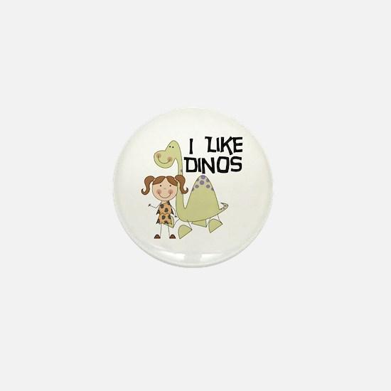 Girl I Like Dinos Mini Button