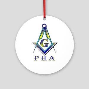 Masonic Prince Hall Ornament (Round)