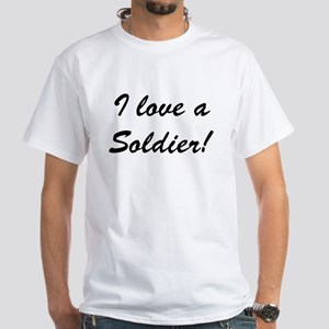 Reasons to Love a Soldier White T-Shirt