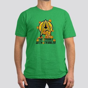 Trouble With Tribbles Men's Fitted T-Shirt (dark)