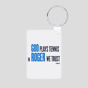 GOD ROGER Aluminum Photo Keychain