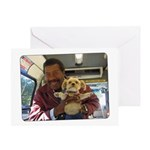 Sticky And His Friend Tony Greeting Cards