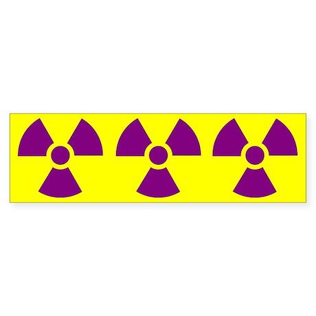 Radiation Symbol Sticker (Bumper)