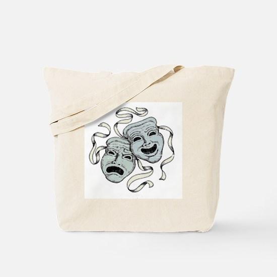Vintage Comedy Tragedy Mask Tote Bag