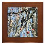 Lady Cardinal Framed Tile
