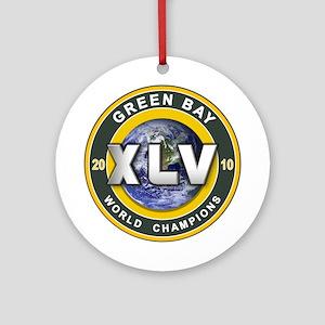 Green Bay 2010 World Champs Ornament (Round)