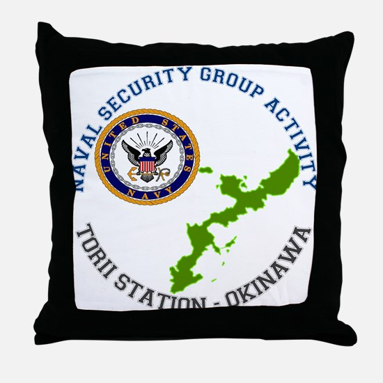 NSGA Torii Station Throw Pillow