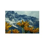 Floral Mountain Rectangle Magnet