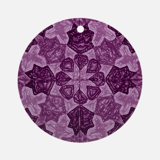 Abstract 1 (Violet) Ornament (Round)