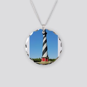 Cape Hatteras Lighthouse. Necklace Circle Charm
