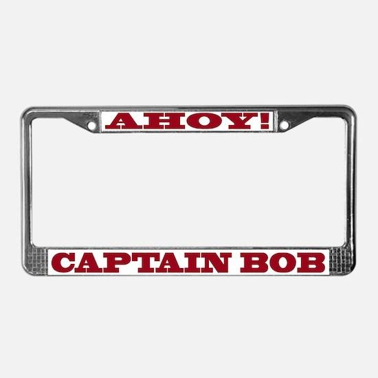 Captain Bob's License Plate Frame