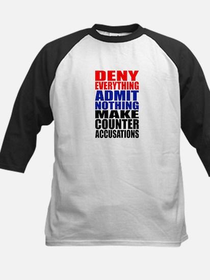 Deny Everything Kids Baseball Jersey
