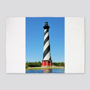 Cape Hatteras Lighthouse. 5'x7'Area Rug