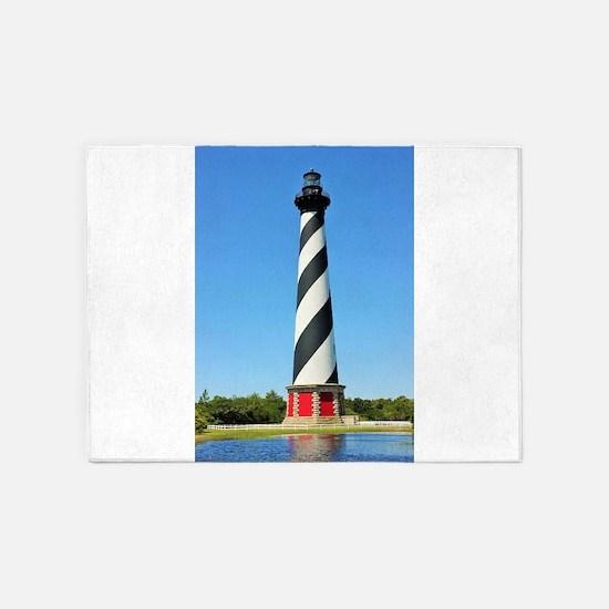 Cape Hatteras Lighthouse. 5'x7'Area Rug