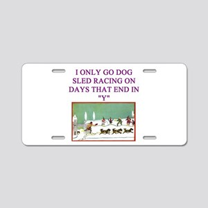 dog racing Aluminum License Plate