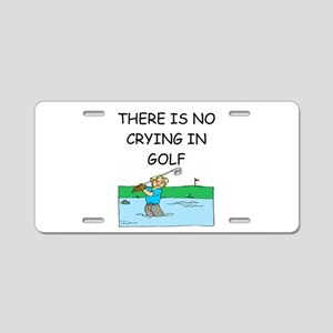 golfing gifts Aluminum License Plate