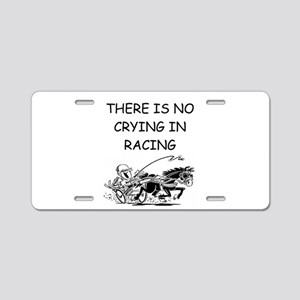 harness racing gifts Aluminum License Plate