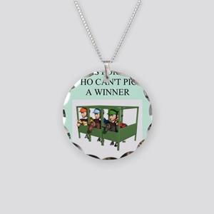 horse racing gifts t-shirts Necklace Circle Charm