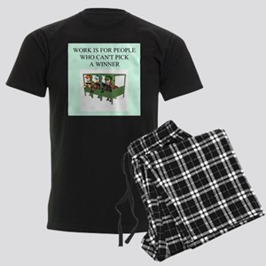 horse racing gifts t-shirts Men's Dark Pajamas
