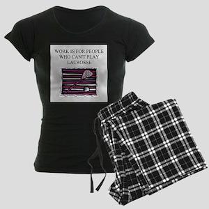 lacrosse gifts t-shirts Women's Dark Pajamas