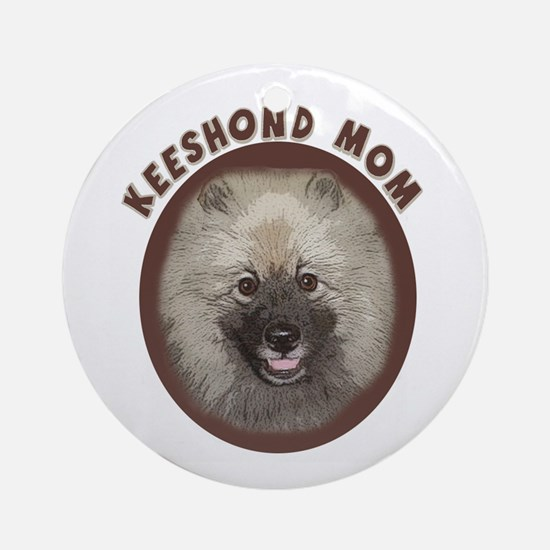 Keeshond Mom Ornament (Round)