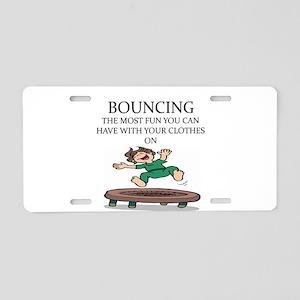 i love trampolines Aluminum License Plate