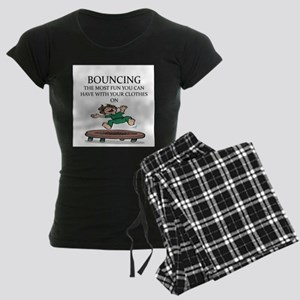 i love trampolines Women's Dark Pajamas