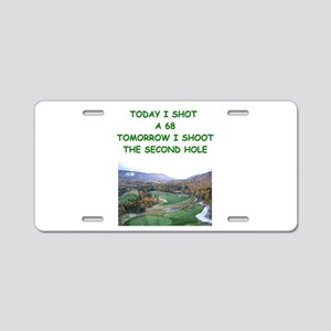 golf humor calendar Aluminum License Plate
