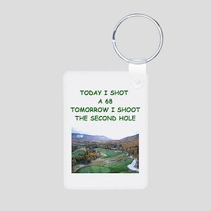 golf humor calendar Aluminum Photo Keychain