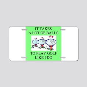 golf humor on gifts and -shir Aluminum License Pla