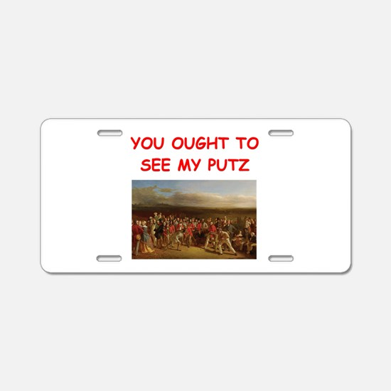 golf humor on gifts and t-shi Aluminum License Pla
