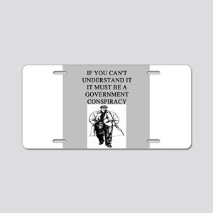 conspiracy theory Aluminum License Plate