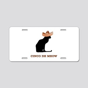 Cinco de Meow Aluminum License Plate