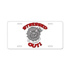 Stressed Out Cat Aluminum License Plate