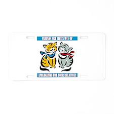 Friends Aluminum License Plate