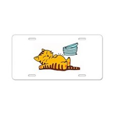 Funny Fat Cat Aluminum License Plate