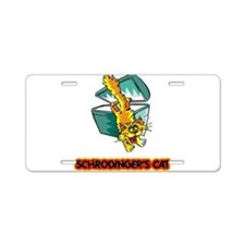 Schrodinger's Cat Aluminum License Plate