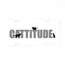 Cattitude Aluminum License Plate