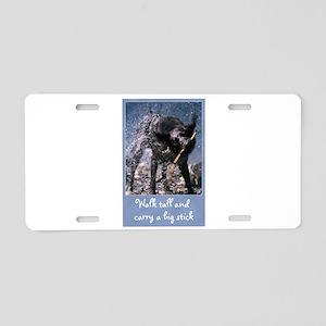 Big Stick Dog Aluminum License Plate