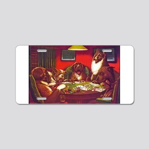 Dogs Playing Poker Waterloo Aluminum License Plate
