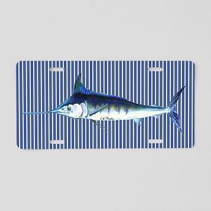 Blue Marlin Aluminum License Plate