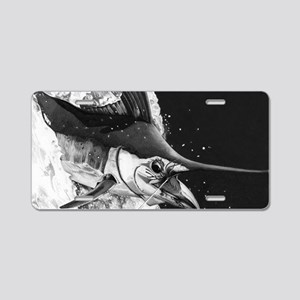 B & W Marlin Aluminum License Plate