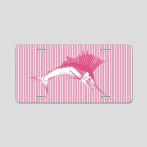 Pink Sailfish Aluminum License Plate