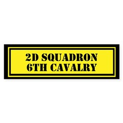 2d Squadron 6th Cavalry Sticker (Bumper)