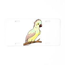 Leadbeater's Cockatoo Aluminum License Plate