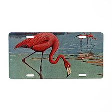 Flamingo Art Aluminum License Plate